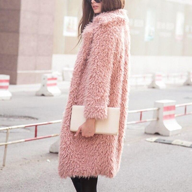 Качественное плотное длинное шерстяное пальто для женщин с теплым рукавом Однотонная женская верхняя одежда модные зимние пальто для
