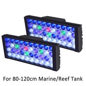 Image 1 - Akvaryumu LED aydınlatma resif tankı tam spektrum UV akvaryum lambası kısılabilir programlanabilir LED mercan deniz