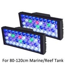 Aquário conduziu a iluminação para o tanque de recife espectro completo uv lâmpada aquário regulável programável led coral marinho