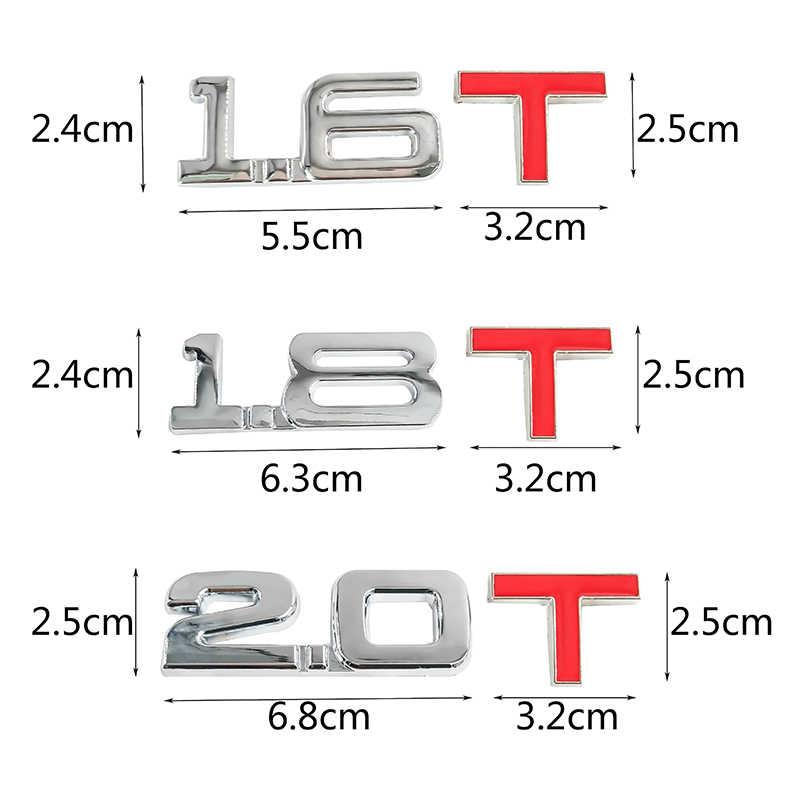 ملصق معدني ثلاثي الأبعاد للسيارة طراز 1.6T 1.8T 2.0T 2.8T ملصق لسيارة فيات كروما لينيا أوليس أولتر 600 1200 520 20-30 16-20