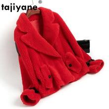 Otoño Invierno ropa de Mujer 2020 Streetwear Abrigo de piel Real chaqueta de lana coreano Vintage de oveja vaporosa Abrigo de Mujer ZT3355