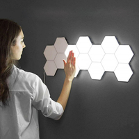 Quantum lamp LED Touch Sensing Night Light Magnetic Hexagons Creative Home Living Room Decoration Wall Lampara Free Shipping