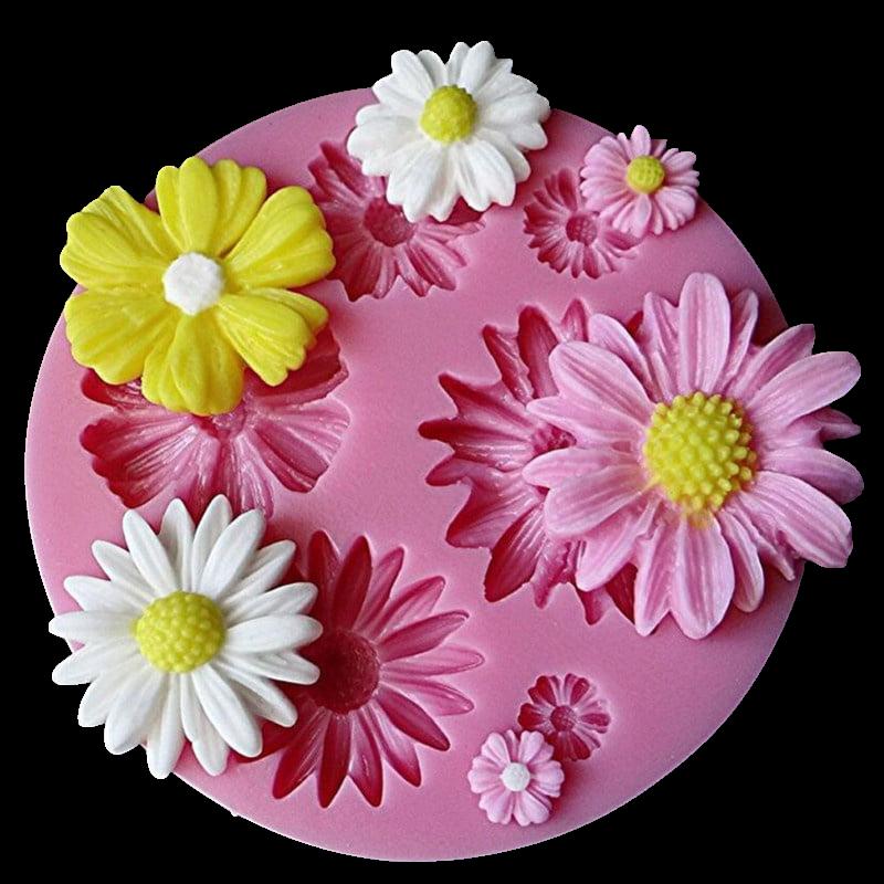 Silicone Beautiful Chrysanthemum Flowers chocolate Party cake decorating tools DIY Sunflower baking fondant mold