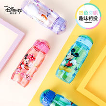 Disney Mikey Minie Kids Baby Water Fles Tritan Cup Draagbare Zuigfles Met Stro Lekvrije Duurzaam Water Cup 450ml(China)