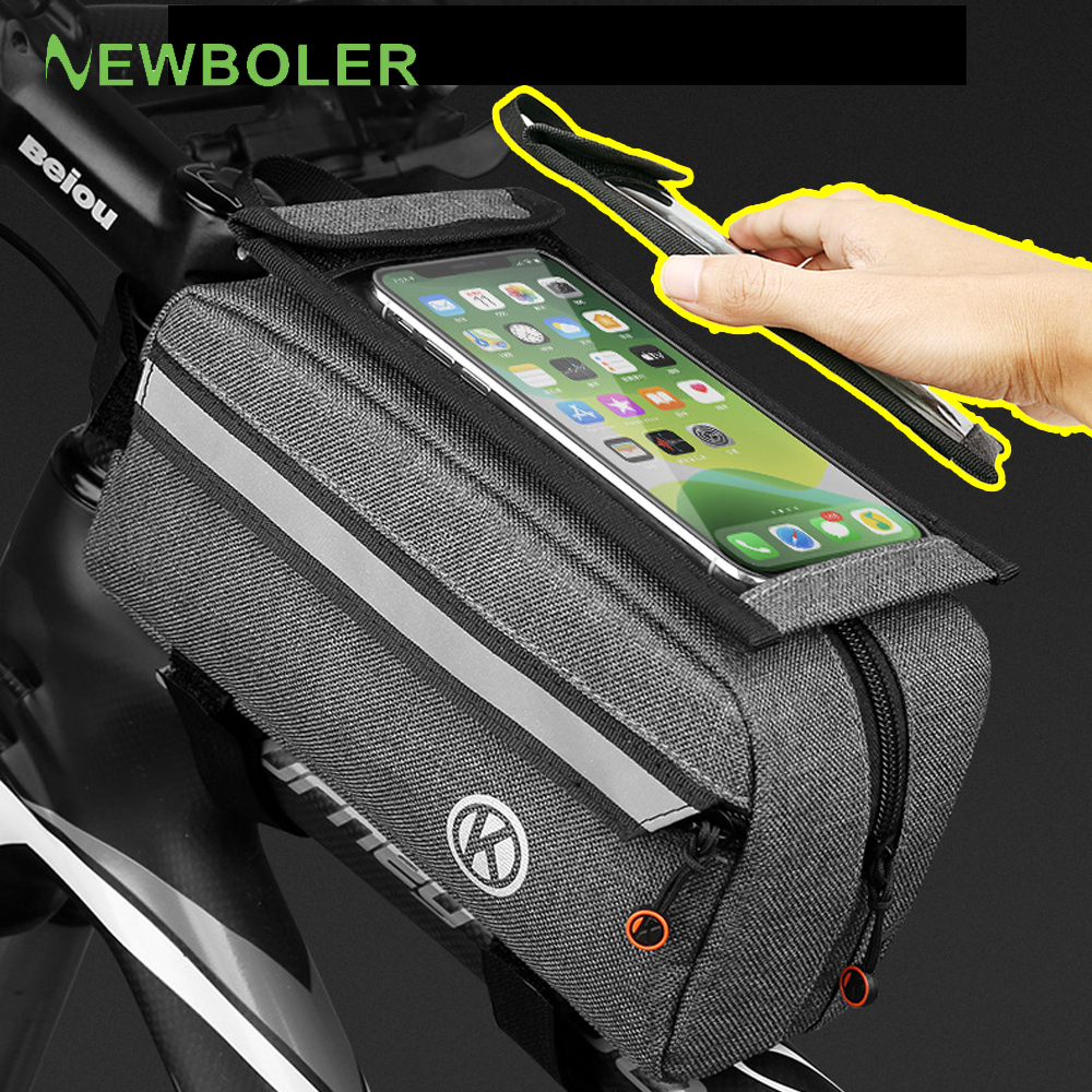 Waterproof Bike Bag Mountain Mtb Front Bag 6.0inch Mobile Phone Case Bicycle Top Tube Frame Triangle Bag Cycling Accessories