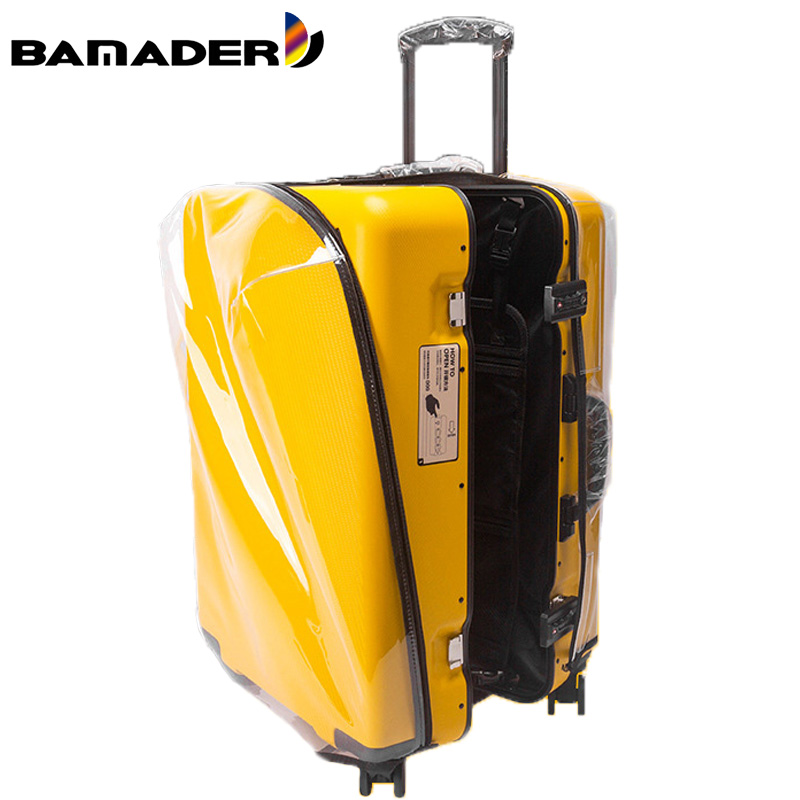 BAMADER New Transparent Luggage Cover Thick Wear-resistant Suitcase Cover Dust-proof Waterproof Trolley Case Travel Accessories