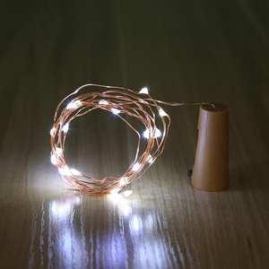 Wine-Bottle-Lights Copper-Wire 10/20-Leds-Cork-Garland Silver DIY Cork-Shape Colorful