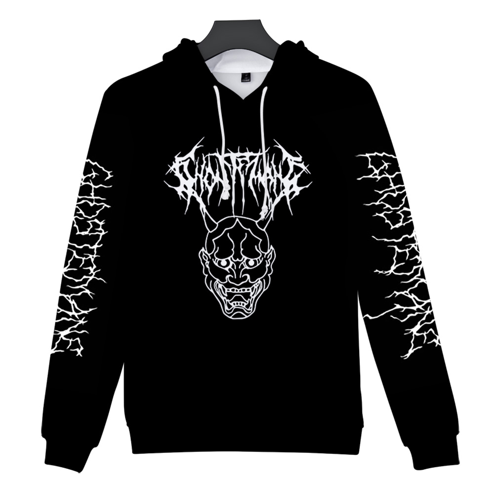 Metal Rap Style Ghostemane World Tour Rock Music Logo 3D Print Hooded Sweatshirt Men/Women Casual Hip Hop Hoodies Clothes