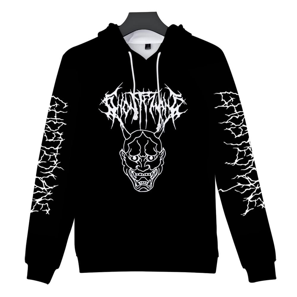 Metal Rap Style Ghostemane World Tour Rock Music Logo 3D print Hooded sweatshirt Men/Women Casual Hip hop Hoodies Clothes