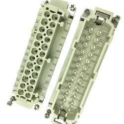 Przemysłowe wodoodporny prostokątne gniazdo wtyczka 24 rdzeń męski i żeński złącze ciężkich obciążenie złącze 16A 500V ukryte instalacji w Wtyczki elektryczne od Elektronika użytkowa na