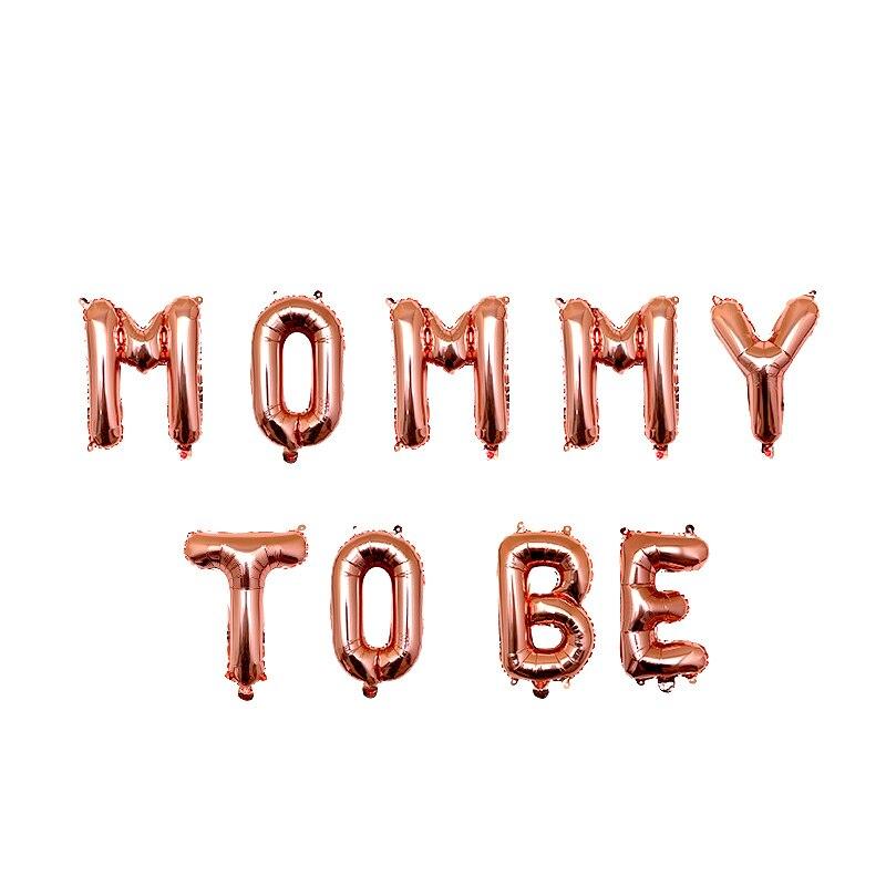 16 cali różowe złoto mumia Mmm być list Baby Boy dziewczyna balony na brzuszkowe dekoracje na przyjęcie z okazji urodzin dziecka wystrój mama w ciąży Favor prezent