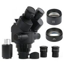 Simul Focal 3,5-90X непрерывный зум Тринокулярный Стерео микроскоп головка WF10X-20 окуляра резиновые глазки