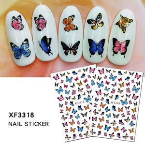 1 Pcs Beautiful Butterfly Fantasy 3D Back Glue Nail Decal Nail Decoration Nail Art Nail Tool Nail Ornament Maple Nail Sticker