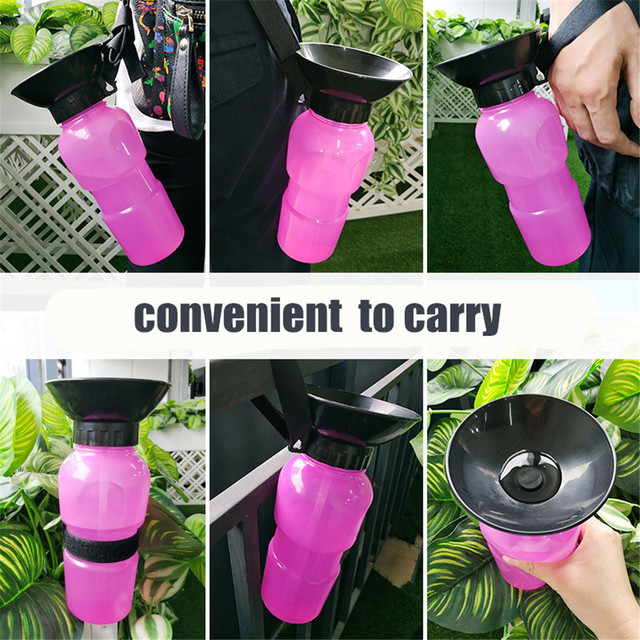 Pet Dog Drinking Water Bottle Sports Squeeze Type Puppy Cat Portable Travel Outdoor Feed Bowl Drinking Water Jug Cup Dispenser 6