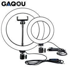 16/26cm Dimmbare LED Selfie Ring Licht Youtobe Fotografie 3200 5500k Foto Studio Telefon Video USB stecker live streaming Ring Lampe