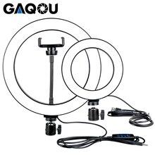 16/26cm ניתן לעמעום LED Selfie טבעת אור Youtobe צילום 3200 5500k תמונה סטודיו טלפון וידאו USB תקע הזרמה טבעת מנורה