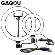 Anillo de luz LED regulable para Selfie, 16/26cm, fotografía Youtobe 3200 5500k, fotografía de estudio con teléfono, vídeo, enchufe USB, lámpara de anillo de transmisión en vivo