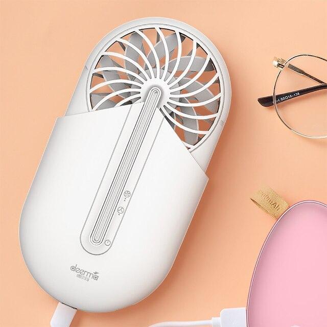 Deerma Ventilador portátil de mano con aromaterapia, Ventilador Ultra silencioso portátil para verano