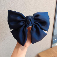 IFMIA Boho Bow Knot Hair Accessories Silk Oversized Bow Tie Hairpins Satin Ribbon Ponytail Hair Clip For Women Children Girls