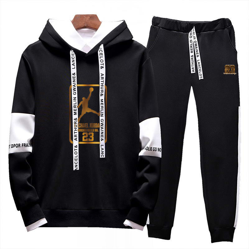 Image 3 - 2019Two Pieces Set Fashion Hooded Sweatshirts Sportswear Men  Tracksuit Hoodie  New Autumn Men Brand Clothes Hoodies Pants SetsMens  Sets