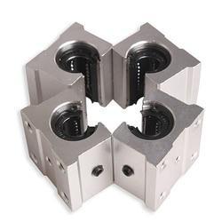 4 x SBR12UU 12mm aluminium liniowy ruch Router blok łożyska  srebrny w Prowadnice liniowe od Majsterkowanie na