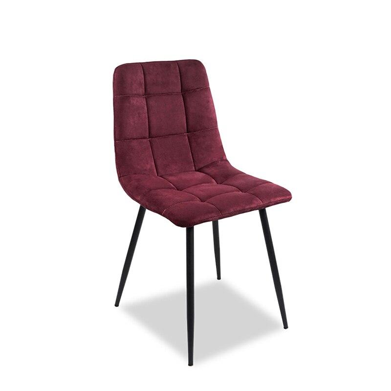 Chaise de salle à manger 4 pièces sur le cuir de velours artificiel, chaise de cuisine et chaise en métal, haute qualité, livraison gratuite pour la russie