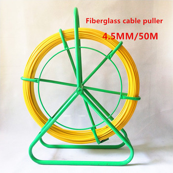 50M High strength Fiberglass cable puller  fiberglass duct rodder conduit wire 5 10 15 20 25 30 50m cable puller electrical wire fish tape cable wire puller lead device construction electrician hand tools