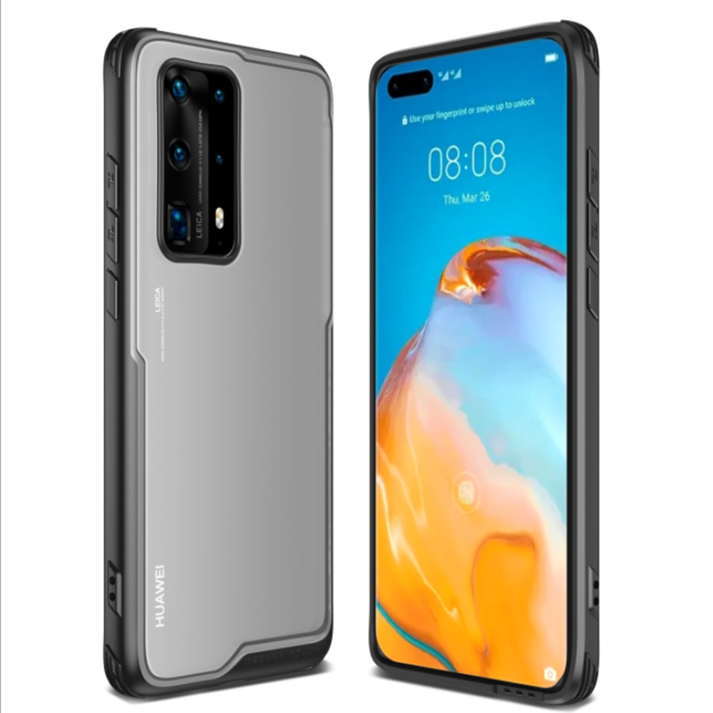 2020 New Huawei P40 Mobile Phone Case Ultra-Thin Frosted Shell P40 Pro 2-In-1 PC Transparent Hard Case Creative