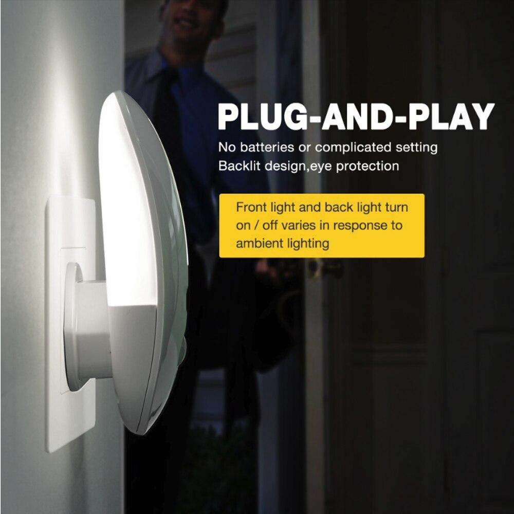 Backlit Design Protect Eye Auto Smart Home Inductive Energy Saving Night Light  9 LED Service Life 10years  EU Plug