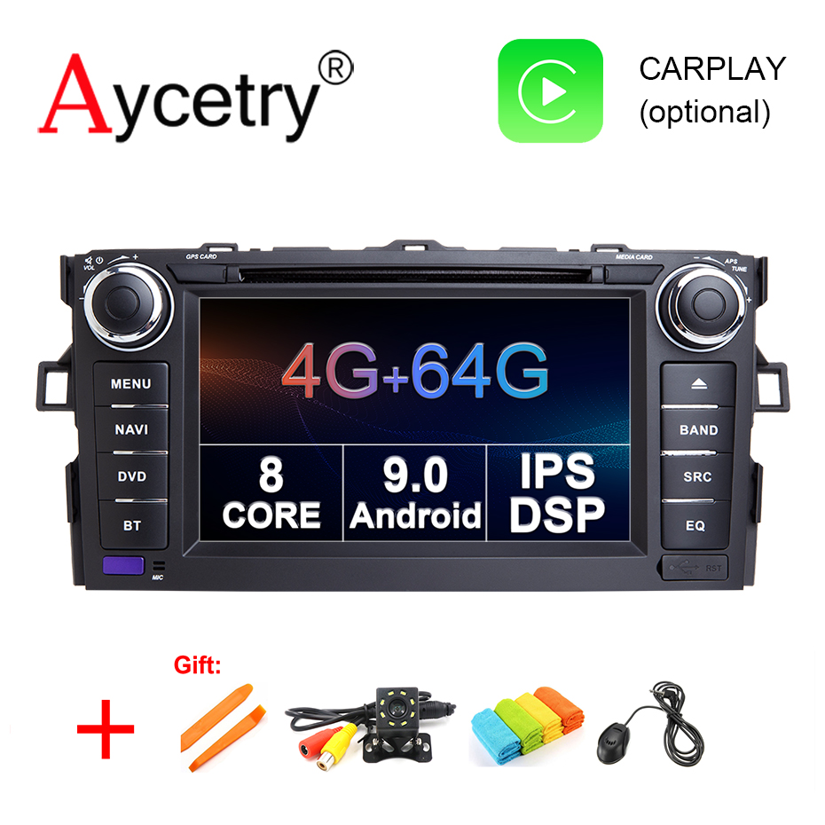IPS DSP 8 Core 4G 64G 2 Din Android 9 Car Multimedia dvd Player GPS For