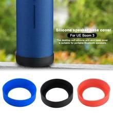 Suporte de mesa de silicone macio capa à prova dwaterproof água escudo protetor 3 cores base antiderrapante para ue boom 3 alto-falante bluetooth
