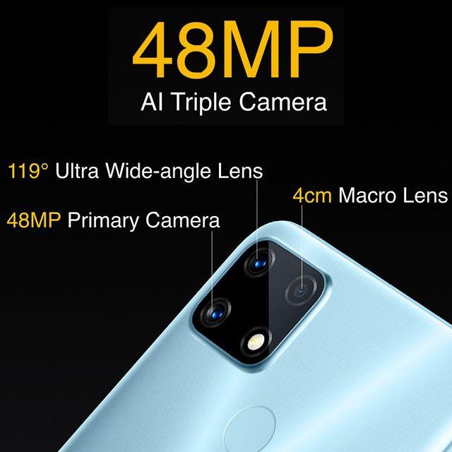 realme 7i RMX2193 6.5''HD+ 4GB 64GB 48MP AI Triple Cams Smartphone Helio G85 Octa Core 18W Quick Charge 6000mAh Mobile Phone 5