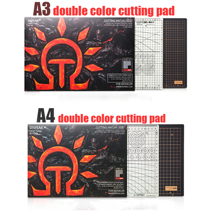 Dspiae At-c Pad A3 A4 Cutting Pad Up To Model Environmental Black Gray Double-side Pvc Cutting Pad Self Healing Cutting Mat Tool
