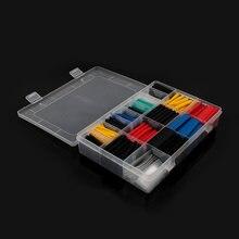 500 stücke/750 stücke/580 stücke Thermoresistant rohr schrumpf schläuche, isolierung Sleeving Polyolefin 2:1 Schrumpfen verpackung Assorted box kit