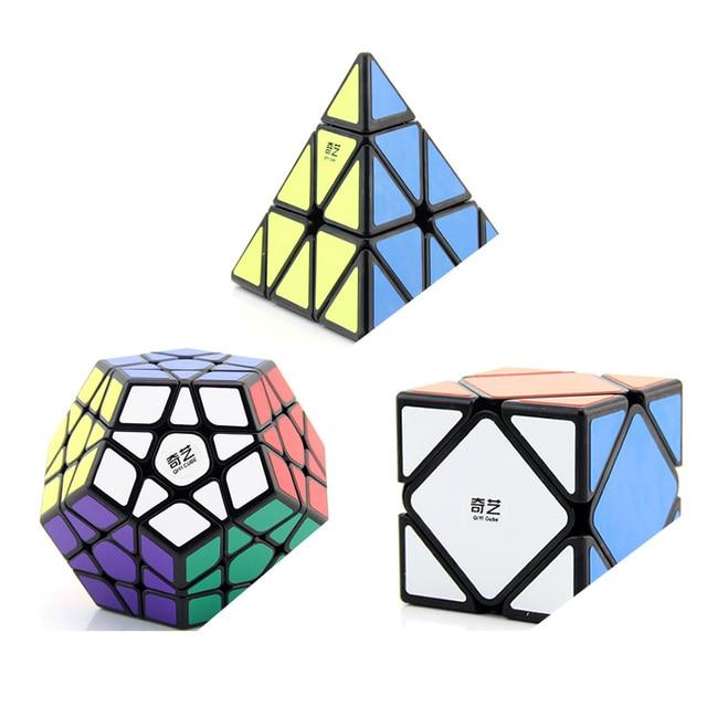QiYi pyramide Megaminxeds asymétrique SQ-1 Mastermorphix 3x3x3 Cube magique carré 1 brochettes de vitesse Cube Puzzles jouets cadeau