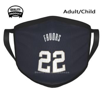 Sports Art - Derrick Favors Jersey Pelicans Blue Number Soft Warm Mouth Masks Favors Favours Derrick Derick Zion Williamson 1 image