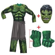 Trajes cosplay roupas musculares capitão hulk americano esmagar mão homem de pelúcia luvas corrida brinquedos festa de halloween das crianças presentes