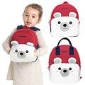 2019 новые белые школьные рюкзаки для девочек и мальчиков милый полярный медведь дизайн детский школьный рюкзак Рождественский подарок