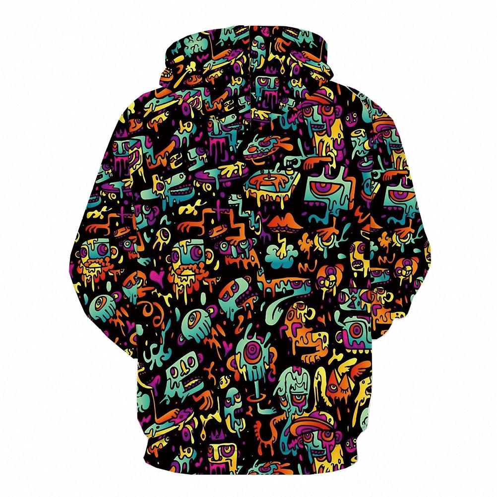 3d Hoodies Psychedelic Sweatshirts men Element Hooded Casual Abstract Hoody Anime Graffiti Hoodie Print Funny 3d Printed 4