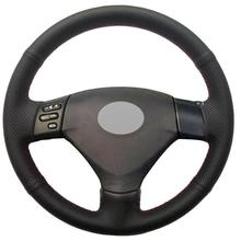 Black Leather DIY Car Steering Wheel Cover for Lexus RX330 RX400h RX400 2004-05 steering pump for toyota highlander 3 3l camry 3 0l lexus es330 rx330 3 3l power steering pump