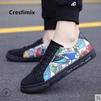 Cresfimix; zapatos hombre; Мужская модная обувь высокого качества с черным узором; Мужская Повседневная дышащая обувь; весенняя обувь на шнуровке; E5029