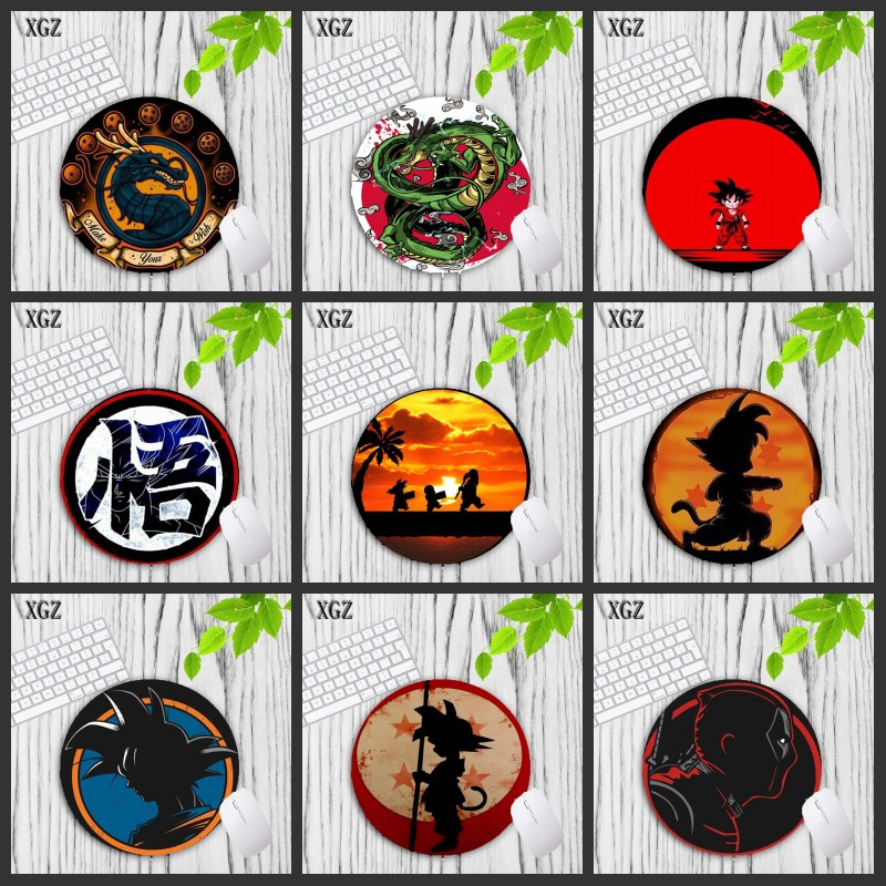 XGZ Dragon Ball Z Beautiful Japan Anime Round MousePad Size 20X20CM Speed Version Gaming Mouse Pad  Gamer To Laptop Mouse Mats