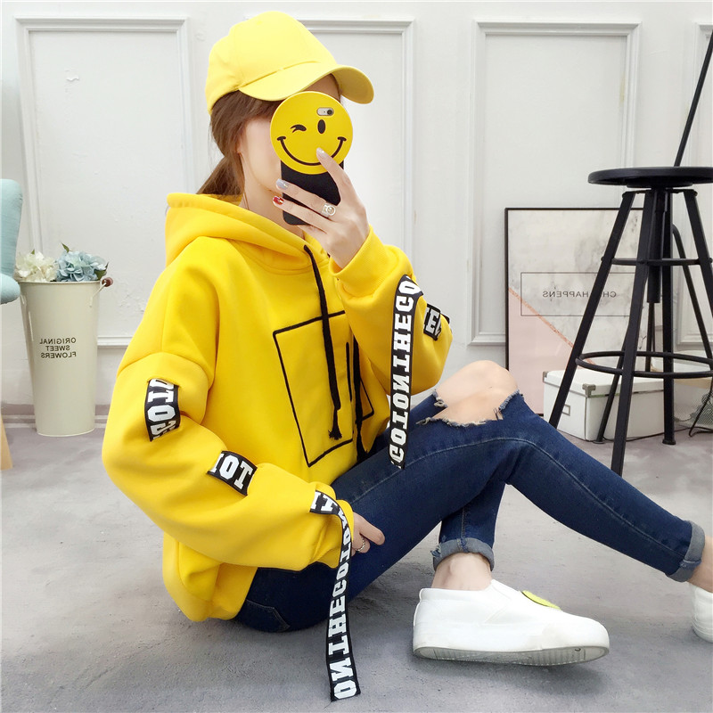 Kpop Korean Bangtan Kpop Hoodies For Girls Streetwear Yellow Hoodie Women Woman Sweatshirts Plus Size White Red Fall 2019 Womans