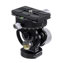 Alüminyum 360 derece Tripod başkanı panoramik fotoğrafçılık kuş gözlemciliği braketi için Quick Release Plate ile Sirui L10 RRS MH 02