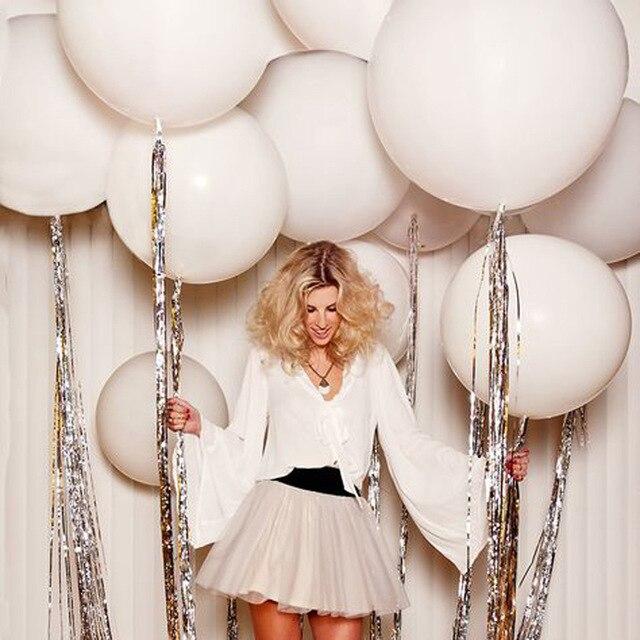 Гигантские белые воздушные шары 18/36 дюйма Свадебные Макарон балео Арка декорация для фотосъемки