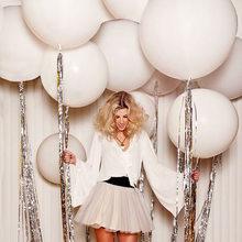 Giant Witte Ballonnen 18/36 Inch Bruiloft Macaron Baloes Arch Achtergrond Fotografie Decoratie