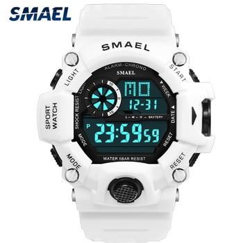 SMAEL Fashion Men Watch Sport Waterproof LED Digital Quartz Mens Watches Top Luxury Brand Military Wristwatch Male Relogio Clock