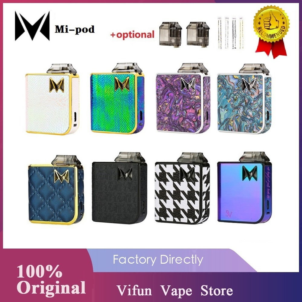 Original Mi-pod Pod Starter Kit Wi/ 950mAh Battery & 2ml Cartridge & First OAS System Leakage Proof Pod Kit Vs Drag Nano / VINCI