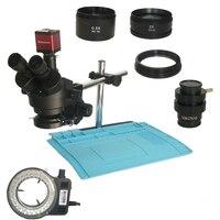 3.5X 7X 45X 90X simul focale Trinoculare Stereo Microscopio 13MP 720P HDMI VGA microscopio digitale SACCHETTO della macchina fotografica di Saldatura calore pad mat-in Microscopi da Attrezzi su