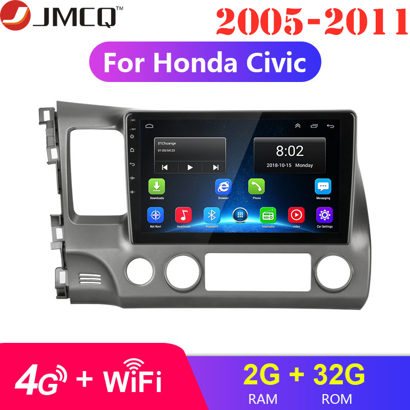 2G 32G Android 8.1 4G WIFI Car Radio Multimedia Video Player for Honda Civic 2005-2011
